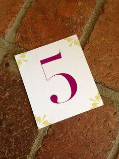 DIY Printable Wedding Table Number Cards by Fira Printables