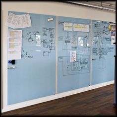 Hightower Chat-Board magnetic glass white boards