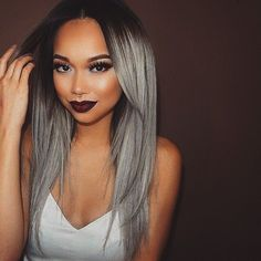 We all love the trendy silver/grey ombre hair look, here Is how to do it your self with just five easy steps.In order to get silver/grey hair, you will first need to
