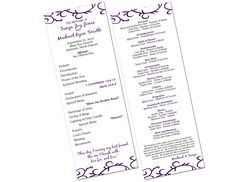 Custom designed wedding program · MDesign 218.512.0221