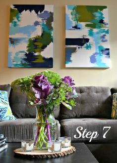Envision Pretty: DIY: Abstract Paintings