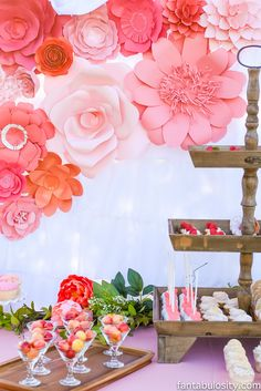 Favorite Things Party Dessert Table: Coral Pink