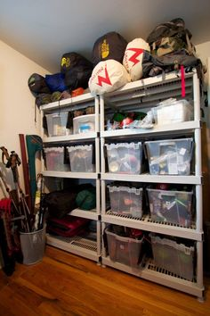 camping gear organization