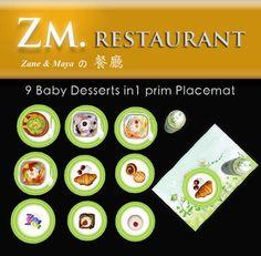 ZM Restaurant - Baby Desserts Placemat (1 prim)