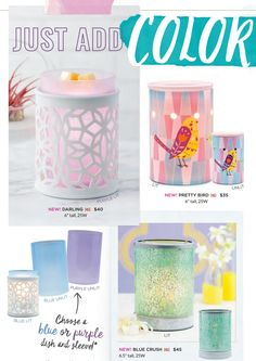 Scentsy- New 2017 Spring/Summer Warmers. Shop my online store for more great products.