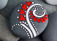 Painted rocks...how cute for February project...You ROCK Valentine!!