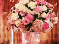 arranjo tons de rosa