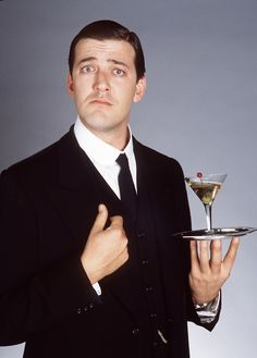 """the adventures of tartanscot™: """"Cocktail Friday - The Moll Cocktail . """" Gosh I love the Brit series Wooster and Jeeves! Dapper Gentleman, Gentleman Style, Jeeves And Wooster, British Comedy, British Humor, British Actors, Hugh Laurie, Charming Man, Comedy Tv"""