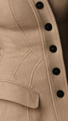 Crêpe Wool Tailored Coat | Burberry, exquisite tailoring