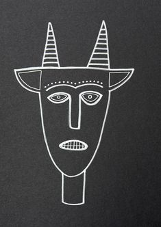 A horned figure, hand-drawn with silver ink on black matte acid-free cardboard.  The drawing measures 6.53 by 9.17 (16.6 cm by 23.3 cm), and is signed on the back.  This drawing is shipped flat inside an archival, acid-free cello bag, inside a stay flat envelope with a clear DO NOT BEND sign in the front.  Shipping from Mexico takes between 2-5 weeks. Thank you for your patience!  The purchase of this original drawing does not transfer reproduction rights © MUSIBATTY 2009-2016