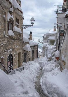 Vico del Gargano - Travel ideas for all around The World - Autumn & Winter Winter Szenen, Winter Magic, Acrylic Landscape, Winter Poster, Snow Scenes, Winter Pictures, Belle Photo, Beautiful Places