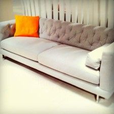 NEW FAUX CHESTERFIELD SOFA FROM NATUZZI'S NEW BRAND ITALSOFA - $1200