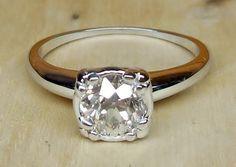 Vintage Antique .85ct Old European Cut Diamond by DiamondAddiction
