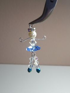DIY~Sweet Dancing Tiny Ballerina Charm Or Pendant! Make With Beads!
