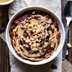 Chocolate Peanut Butter Oatmeal - Fitnessmagazine.com