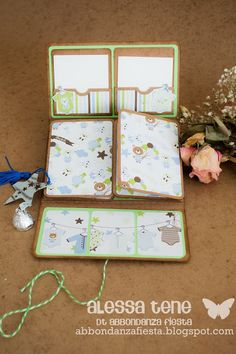 Mini Album Scrapbook, Baby Scrapbook, Scrapbook Cards, Mini Photo Albums, Mini Albums Scrap, Theme Noel, Handmade Books, Kirigami, Book Making