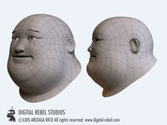 Digital Rebel Art School: Head topology.