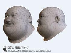 low poly face wire에 대한 이미지 검색결과
