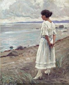 Paul Gustave Fischer (1860-1934): Looking out to Sea