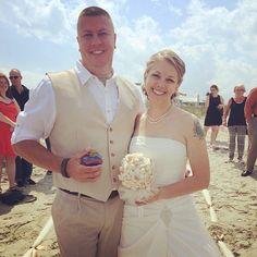 CONGRATULATIONS Bryan and Christine!!! #stephenpalmerweddings #tybeeisland #beachwedding