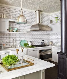 So, your rental apartment or newly-built home didn't come with coffered ceilings or pressed tin tiles