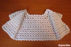 Patron para tejer un bolero para niña a crochet02