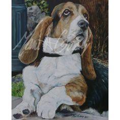tableau de chien Basset un portrait expressif d'un chien exceptionnel peinture-decor-mariegirouxart.biz-marie giroux-idee-cadeau-animaux Chien Basset, Decoration, Marie, Portrait, Dogs, Prints, Painting, Pet Gifts, Gift Ideas
