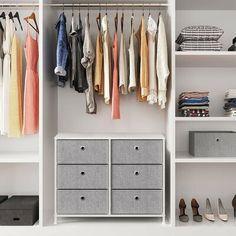 Dresser In Closet, Closet Drawers, Dresser Storage, Dresser Drawers, Dressers, Bedroom Storage, Fabric Drawers, Fabric Boxes, Fabric Storage