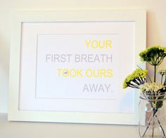 Your First Breath Took Ours Away 8 x 10 print by laceyfields
