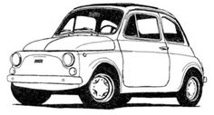 the legendary fiat 500 Source by andulkadolezalo Fiat 500 Car, Fiat 126, Beetle Car, Fiat Abarth, Old School Cars, Vinyl Paper, Car Drawings, Vw Bus, Silhouette Cameo