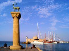 Visit Greece | Mandraki Harbour #Rhodes #Dodecanese #island #travel #VisitGreece #inspiration
