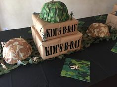 Army Camouflage 60th Birthday Party - simple way to bring your party to a restaurant SweetLaneEvents.com