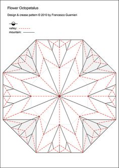 Flower Octopetalus Crease Pattern
