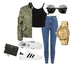 """""""Hey there"""" by erin-renee4 on Polyvore featuring Topshop, Miss Selfridge, D. Brand, adidas, Nixon and Tory Burch"""