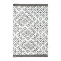 bawełniany dywanik w szaro-białej kolorystyce piękny skandynawski wzór duńskiej firmy Green Gate