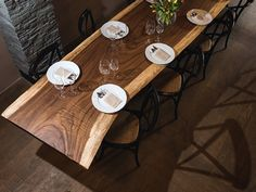 handmade dining table - 175 inch long by OSTROLUCKY