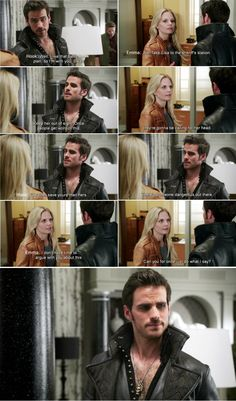 """I'd rather save yours than hers."" Hook, ""Can you for oncejust do what I say?"" Emma - 4 * 3 ""Rocky Road"" #CaptainSwan"