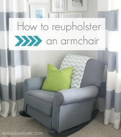 Have an old chair in need of an update? Learn how to reuphoster an armchair - it isn't nearly as difficult as I thought.