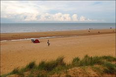 Beach at Hunstanton by Baz Richardson, via Flickr