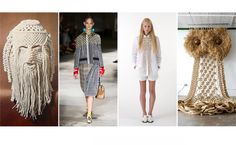 Macrame is an old craft that exists of different knot techniques. Today fashion designers and artist update the craft with innovative implementations.  From left to right:  The Art of Macramé, SS16 Prada, Sophie D'Hoore, Andy Harman