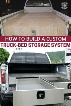 How to Build a Custom Truck-Bed Storage System, Camping Diy, Truck Bed Camping, Camping Ideas, Custom Truck Beds, Custom Trucks, Truck Bed Drawers, Truck Bed Slide, Truck Bed Date, Truck Storage