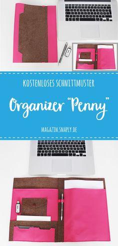"DIY-Anleitung & Kostenloses Schnittmuster: Organizer ""Penny"""