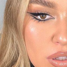 Makeup Eye Looks, Eye Makeup Art, Cute Makeup, Glam Makeup, Pretty Makeup, Skin Makeup, Makeup Inspo, Makeup Inspiration, 90s Makeup