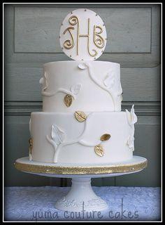 Cakes in yuma arizona fancy cakes pinterest yuma arizona ivory and gold wedding cake junglespirit Gallery