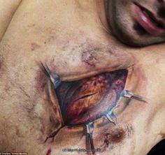 3D tattoo - heart