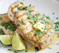 """Grilled swordfish steak is one of the most delicious and popular grilled fish recipe.Cook swordfish steak with ginger and lime and you""""ll never forget this unique flavor."""