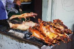Fried Cuy, or guinea pig. A type of cuisine eaten in Bolivia  http://sorryimnotsorryblog.com/dont-eat-that-guinea-pig-a-note-about-bolivian-cuisine/#more-81