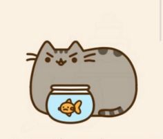 Pusheen looks evil in this.
