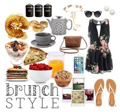 """Is It Brunchtime Yet?"" by cupcakes-fave-fashion ❤ liked on Polyvore featuring Aéropostale, Eugenia Kim, Kate Spade, Royal Doulton, The Cellar, Typhoon, Polaroid, young, weekend and breakfast"