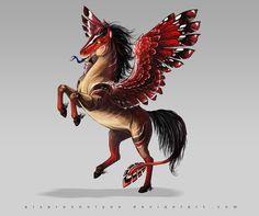 Red wing by AlsaresLynx